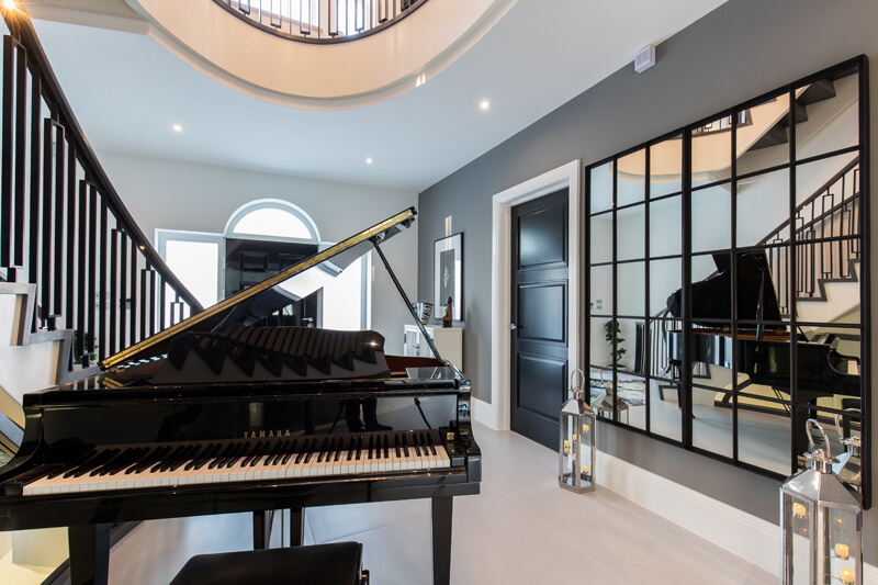 North London new build music room by Aubrey Homes