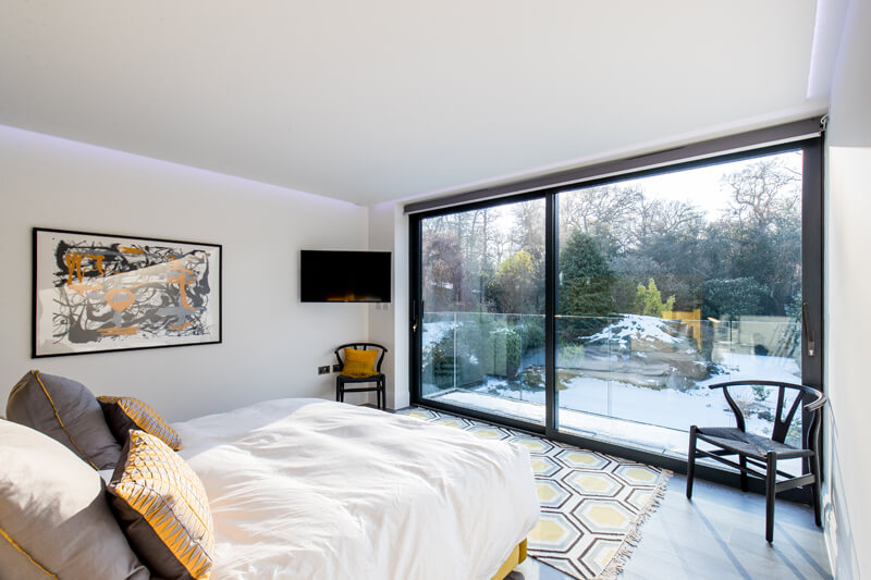North London new build bedroom by Aubrey Homes