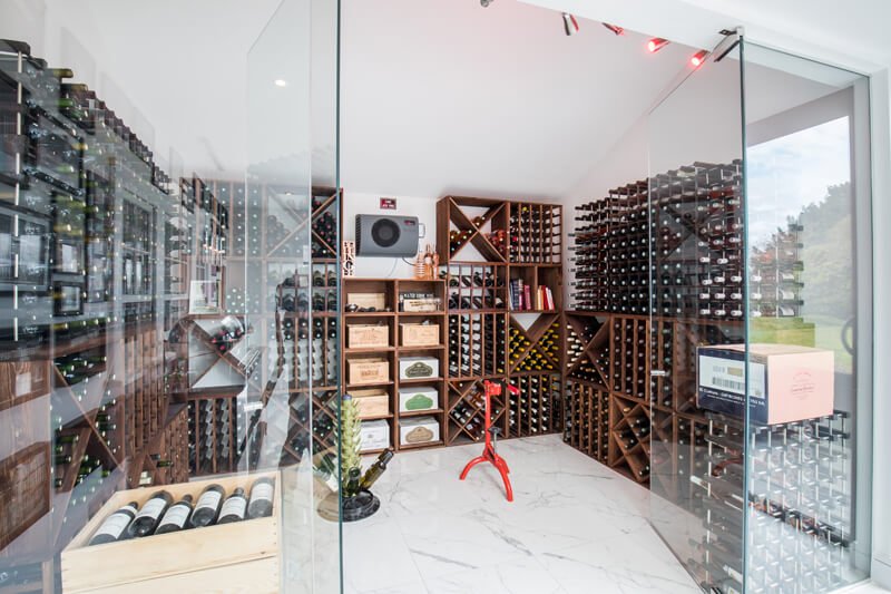 Wine cellar Hertfordshire by Aubrey Homes