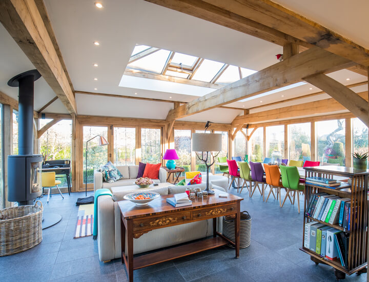 oak beams house extension building company SG12 ware hertfordshire