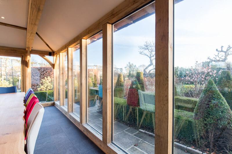 Oak framed extension windows Cambridgeshire by Aubrey Homes