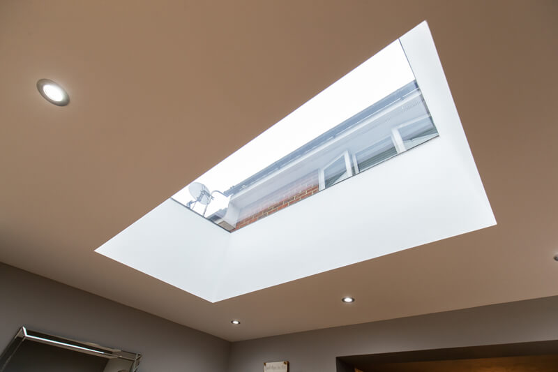 East Hertford house refurbishment skylight