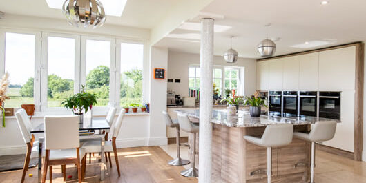 Open plan living local builders SG11 ware hertfordshire